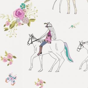horse fabric print