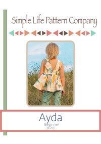 Ayda's V Back Peplum Top By Simple Life Company