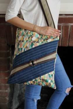 Baste and Buckle Tote by AGF Studio