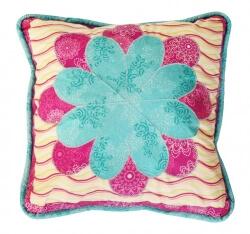 Daisy Pillow by Pat Bravo