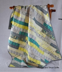 Diagonal Quilt By Richard and Tanya Quilts