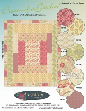 Dream of a Garden Quilt by Pat Bravo