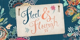 Fleet and Flourish Fabric Collection By Maureen Cracknell