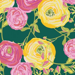 green floral fabric , 100 % cotton,