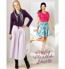Pretty Pleated Skirts By Kwik Sew