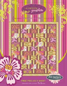 Le Petite Garden Quilt by Pat Bravo
