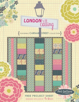 London's Calling Quilt by Pat Bravo