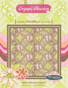 Organic Obsession Quilt by Pat Bravo