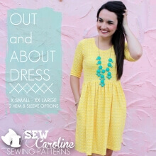 Out and About Dress By Sew Caroline