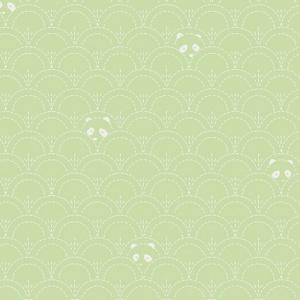 green panda fabric, quilting cotton, green cotton