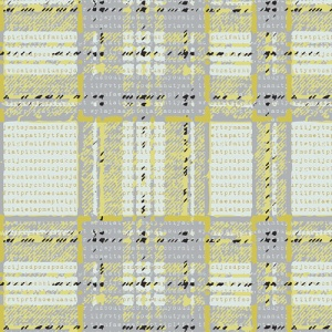 plaid fabric, grey and yellow fabric, cotton, quilting