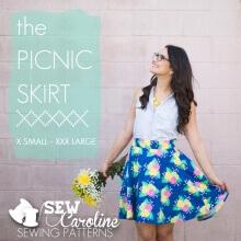 The Picnic Skirt By Sew Caroline