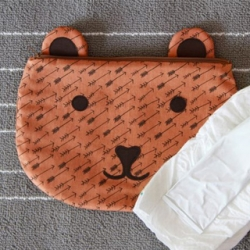 Teddy Bear Zippy Bag by AGF Studio
