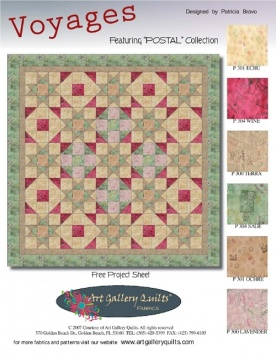 Voyages Quilt by Pat Bravo