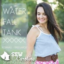 Water Fall Tank By Sew Caroline