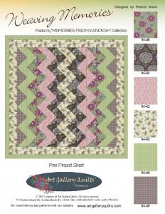 Weaving Memories Free Quilting Pattern By Pat Bravo