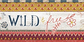 Wild and Free Fabric Collection by Maureen Cracknell