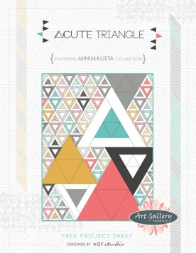 Acute Triangle Quilt by AGF Studio