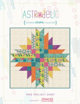 Astrodelic Quilt by Frances Newcombe