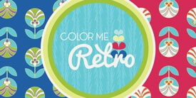 Color me Retro Fabric Collection by Jeni Baker