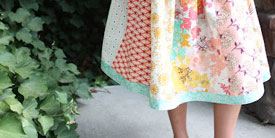 Easy Fat Quarter Skirt