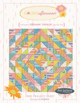 Golden Afternoon Quilt by Jeni Baker