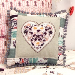 Heart Song Pillow by AGF Studio