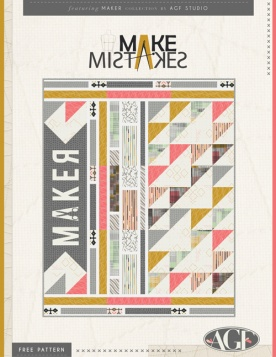 Make Mistakes Quilt by AGF Studio