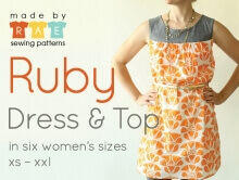 Ruby Dress & Top By RAE Sewing Patterns