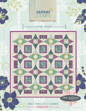 Safari Stars Quilt by Frances Newcombe