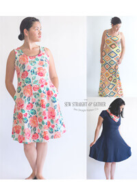 Uptown/Downtown Dress By Sew Straight & Gather