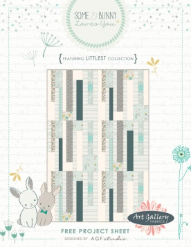 Some Bunny Loves You Quilt by AGF Studio