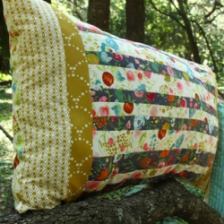 Straight Up and Down Pillow by AGF Studio