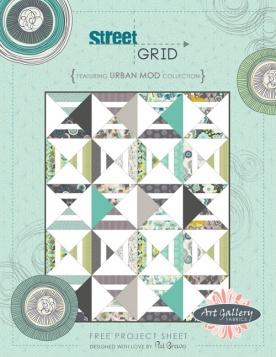 Street Grid Quilt by Pat Bravo