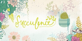 Succulence Fabric Collection by Bonnie Christine