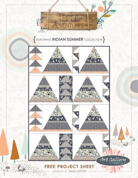 Tepee Adventures Quilt by Sarah Watson