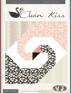 Swan Kiss Pillow by AGF Studio