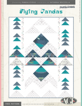 Flying Pandas Quilt by AGF Studio