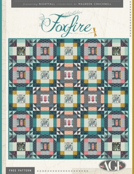Foxfire Quilt by Maureen Cracknell
