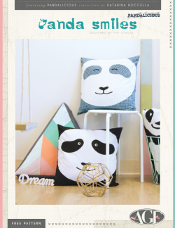Panda Smiles Pillows by AGF Studio