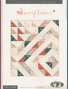 Swanflower Quilt by Bonnie Christine