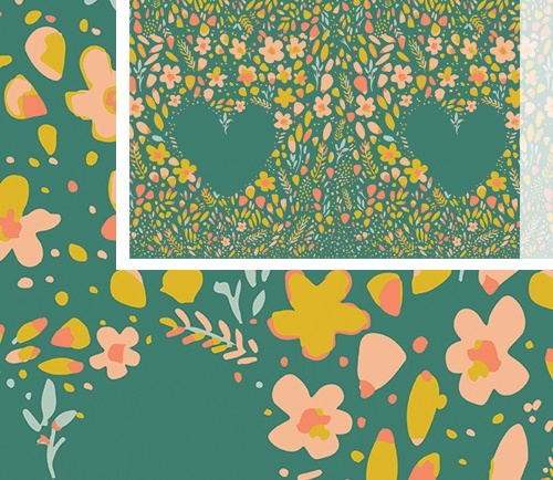 floral fabric Garden Dreamer fabric collection by Maureen