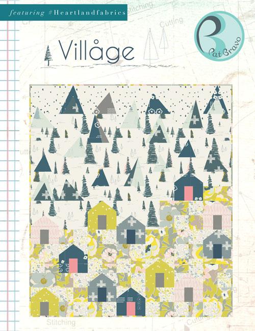Village Quilt by Pat Bravo