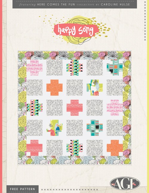 Happy Song Quilt by Sew Caroline
