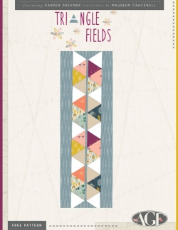 Triangle Fields Table Runner Free Pattern by Maureen Cracknell