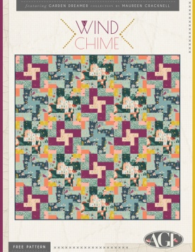 Wind Chime Quilt by Maureen Cracknell