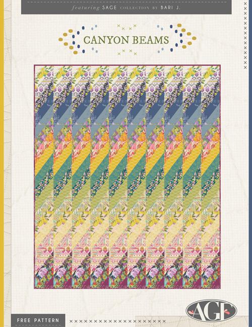 Canyon Beams Quilt by Bari J.