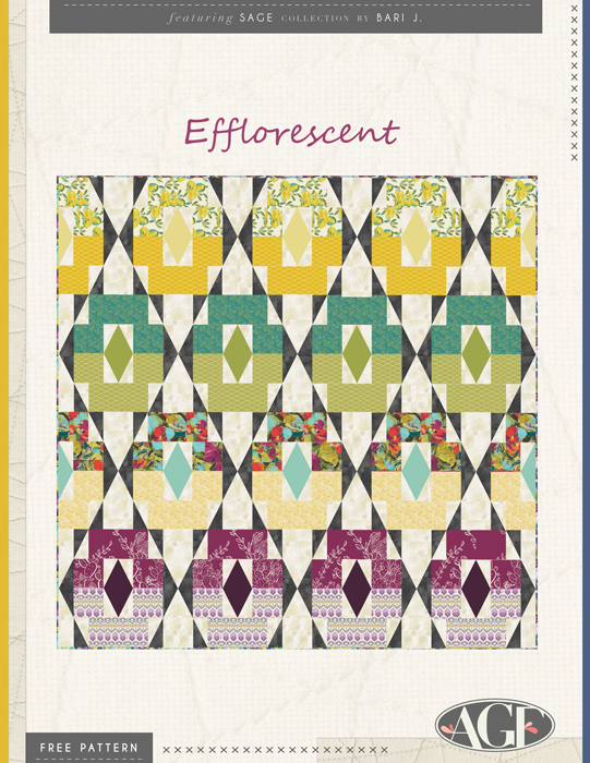 Efflorescent Quilt by AGF Studio.