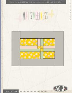 Mat Sweetness Placemats Free Pattern
