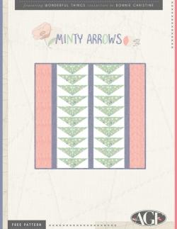 Minty Arrows Pillow Free Pattern